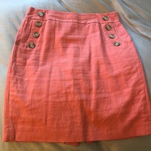 LOFT Linen Sailor Pencil Skirt